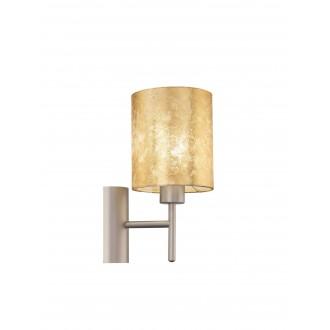 EGLO 97645   Viserbella Eglo rameno stenové svietidlo kruhový prepínač 1x E27 šampanské, zlatý
