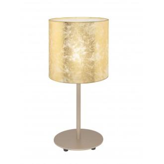 EGLO 97646 | Viserbella Eglo stolové svietidlo kruhový 40cm prepínač na vedení 1x E27 šampanské, zlatý