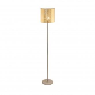 EGLO 97647   Viserbella Eglo stojaté svietidlo kruhový 158,5cm nožný vypínač 1x E27 šampanské, zlatý
