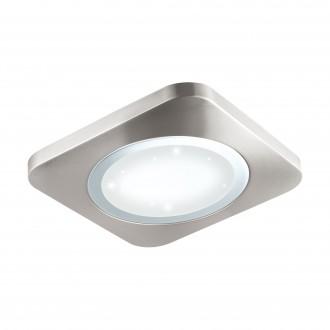 EGLO 97663 | Puyo-S Eglo stenové, stropné svietidlo 1x LED 2500lm 3000K matný nikel, biela, kryštálový efekt