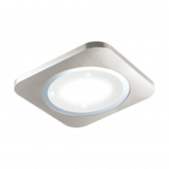 EGLO 97664 | Puyo-S Eglo stenové, stropné svietidlo 1x LED 3400lm 3000K matný nikel, biela, kryštálový efekt