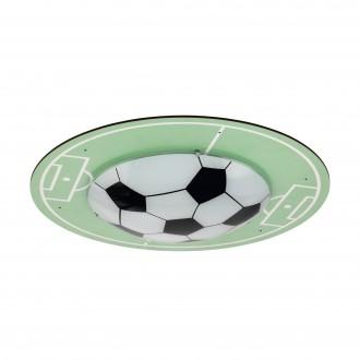 EGLO 97667 | Tabara Eglo stropné svietidlo kruhový 1x E27 zelená, biela, čierna