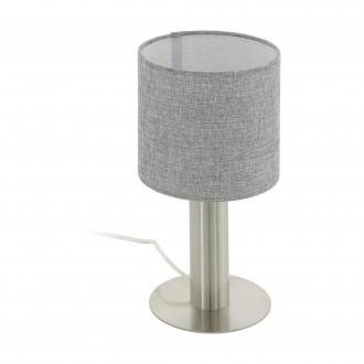 EGLO 97675 | Concessa Eglo stolové svietidlo 30cm prepínač na vedení 1x E27 matný nikel, sivé