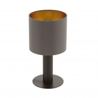 EGLO 97686 | Concessa Eglo stolové svietidlo 30cm prepínač na vedení 1x E27 cappuccino, zlatý