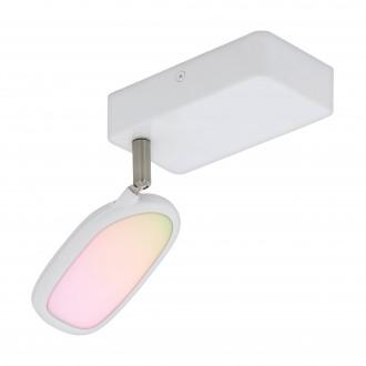 EGLO 97691 | EGLO-Connect-Palombare Eglo spot múdre osvetlenie regulovateľná intenzita svetla, nastaviteľná farebná teplota, meniace farbu, otočné prvky 1x LED 600lm 2700 <-> 6500K biela