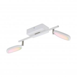 EGLO 97692 | EGLO-Connect-Palombare Eglo spot múdre osvetlenie regulovateľná intenzita svetla, nastaviteľná farebná teplota, meniace farbu, otočné prvky 2x LED 1200lm 2700 <-> 6500K biela