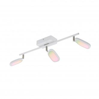 EGLO 97693 | EGLO-Connect-Palombare Eglo spot múdre osvetlenie regulovateľná intenzita svetla, nastaviteľná farebná teplota, meniace farbu, otočné prvky 3x LED 1800lm 2700 <-> 6500K biela