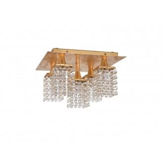 EGLO 97721   Pyton-Gold Eglo stropné svietidlo štvorec 5x G9 1800lm 3000K zlatý, priesvitné