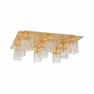 EGLO 97722 | Pyton-Gold Eglo stropné svietidlo štvorec 9x G9 3240lm 3000K zlatý, priesvitné