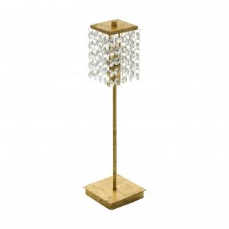 EGLO 97725 | Pyton-Gold Eglo stolové svietidlo 37,5cm prepínač na vedení 1x G9 360lm 3000K zlatý, priesvitné
