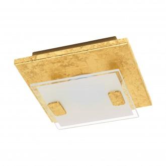 EGLO 97757 | Vicaro-1 Eglo stenové, stropné svietidlo štvorec 1x LED 180lm 3000K matné zlato, biela, priesvitná