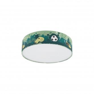 EGLO 97762 | Tabara Eglo stropné svietidlo kruhový 1x E27 biela, zelená, čierna