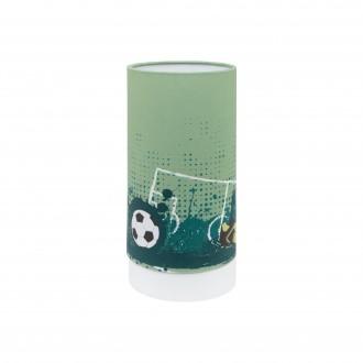 EGLO 97763 | Tabara Eglo stolové svietidlo hriadeľ 25,5cm prepínač na vedení 1x LED 540lm 3000K biela, zelená, čierna
