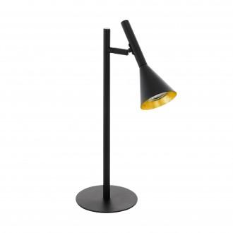 EGLO 97805 | Cortaderas Eglo stolové svietidlo 44,5cm prepínač na vedení 1x GU10 400lm 3000K čierna, zlatý