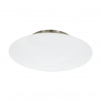 EGLO 97811 | EGLO-Connect-Frattina Eglo stropné múdre osvetlenie regulovateľná intenzita svetla, nastaviteľná farebná teplota, meniace farbu 1x LED 3400lm 2700 <-> 6500K matný nikel, biela