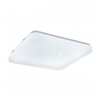EGLO 97881 | Frania-S Eglo stenové, stropné svietidlo štvorec 1x LED 1350lm 3000K biela, kryštálový efekt