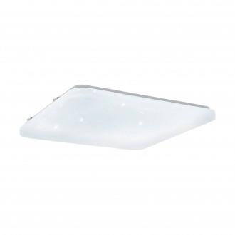 EGLO 97883 | Frania-S Eglo stenové, stropné svietidlo štvorec 1x LED 3900lm 3000K biela, kryštálový efekt