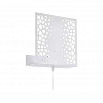 EGLO 97889   Gallico Eglo rameno stenové svietidlo prepínač na vedení 1x E27 biela