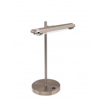 EGLO 97913 | Casamarte Eglo stolové svietidlo 35,5cm dotykový prepínač s reguláciou svetla regulovateľná intenzita svetla 1x LED 450lm 3000K matný nikel