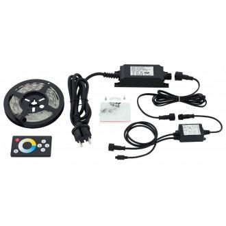 EGLO 97925 | Led-Stripes-Flex Eglo LED pásy svietidlo diaľkový ovládač zásuvkové zospodu 1x LED 600lm 2700<->6500K IP44 priesvitné