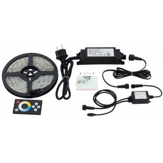 EGLO 97926 | Led-Stripes-Flex Eglo LED pásy svietidlo diaľkový ovládač zásuvkové zospodu 1x LED 1000lm 2700<->6500K IP44 priesvitné