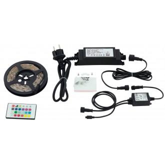 EGLO 97929 | Led-Stripes-Flex Eglo LED pásy svietidlo diaľkový ovládač zásuvkové zospodu 1x LED 600lm RGBK IP44 priesvitné