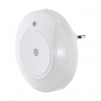 EGLO 97934 | Tineo Eglo smerové svetlo svietidlo svetelný senzor, senzor zvuku konektorové svietidlo 2x LED 8lm 3000K biela