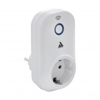 EGLO 97936 | Eglo riadiaca jednotka Plug Plus múdre osvetlenie prepínač zásuvkové zospodu, Wifi pripojenie, Bluetooth biela