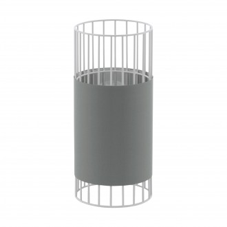EGLO 97956 | Norumbega Eglo stolové svietidlo 31cm prepínač na vedení 1x E27 biela, sivé