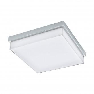 EGLO 97971 | Isletas Eglo stenové, stropné svietidlo štvorec 1x LED 2600lm 4000K IP44 chróm, biela, kryštálový efekt