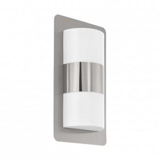 EGLO 98085 | Cistierna Eglo stenové svietidlo 2x E27 IP44 zušľachtená oceľ, nehrdzavejúca oceľ, biela