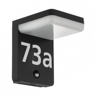 EGLO 98092 | Amarosi Eglo stenové svietidlo pohybový senzor 1x LED 1200lm 5000K IP44 čierna, biela