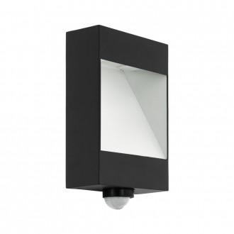 EGLO 98098 | Manfria Eglo stenové svietidlo pohybový senzor 1x LED 1000lm 3000K IP44 antracit, biela