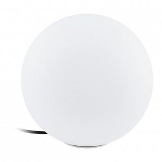 EGLO 98105 | EGLO-Connect-Monterolo Eglo dekor múdre osvetlenie guľa regulovateľná intenzita svetla, nastaviteľná farebná teplota, meniace farbu, vybavené vedením a zástrčkou 1x E27 806lm 2700 <-> 6500K IP65 biela