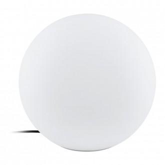 EGLO 98106 | EGLO-Connect-Monterolo Eglo dekor múdre osvetlenie guľa regulovateľná intenzita svetla, nastaviteľná farebná teplota, meniace farbu, vybavené vedením a zástrčkou 1x E27 806lm 2700 <-> 6500K IP65 biela