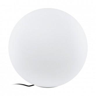 EGLO 98107 | EGLO-Connect-Monterolo Eglo dekor múdre osvetlenie guľa regulovateľná intenzita svetla, nastaviteľná farebná teplota, meniace farbu, vybavené vedením a zástrčkou 1x E27 806lm 2700 <-> 6500K IP65 biela