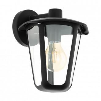 EGLO 98121   Monreale Eglo stenové svietidlo 1x E27 IP44 čierna, priesvitné