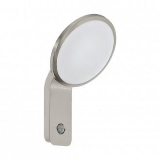 EGLO 98128 | Cicerone Eglo rameno stenové svietidlo pohybový senzor 1x LED 950lm 3000K IP44 zušľachtená oceľ, nehrdzavejúca oceľ, biela