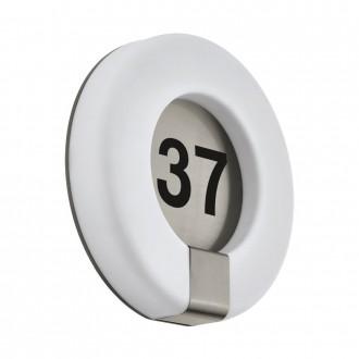 EGLO 98147 | Marchesa Eglo stenové svietidlo kruhový 1x LED 1300lm 3000K IP44 zušľachtená oceľ, nehrdzavejúca oceľ, biela
