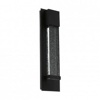 EGLO 98153 | Villagrazia Eglo stenové svietidlo tehla 2x LED 680lm 3000K IP44 čierna, priesvitná, bublinový efekt