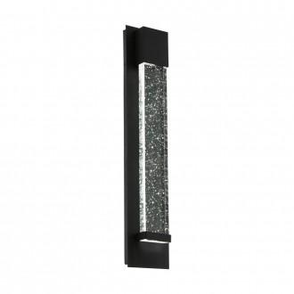 EGLO 98154 | Villagrazia Eglo stenové svietidlo tehla 2x LED 680lm 3000K IP44 čierna, priesvitná, bublinový efekt