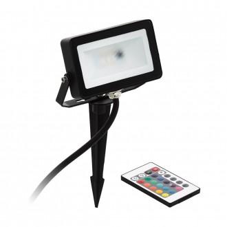 EGLO 98185 | Faedo-RGB Eglo svetlomet RGB-WW zapichovacie svietidlo diaľkový ovládač meniace farbu, otočné prvky 1x LED 700lm 3000K IP44 čierna, biela