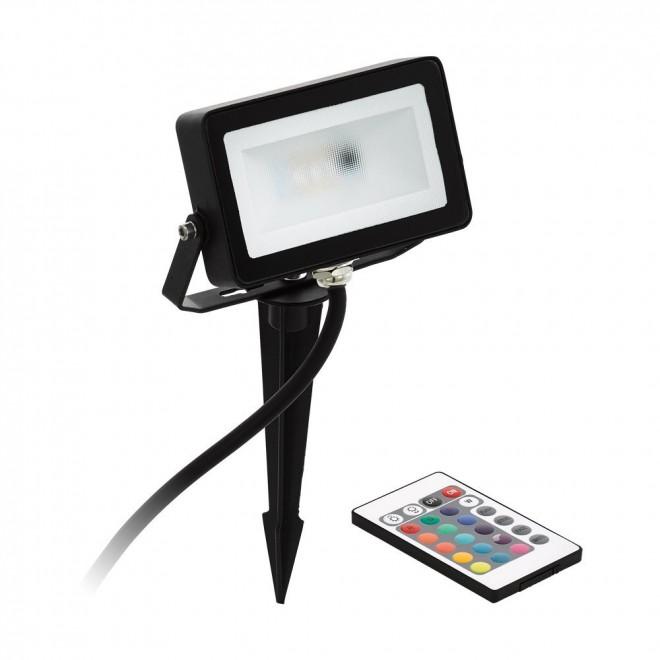EGLO 98185   Faedo-RGB Eglo svetlomet RGB-WW zapichovacie svietidlo diaľkový ovládač meniace farbu, otočné prvky 1x LED 700lm 3000K IP44 čierna, biela