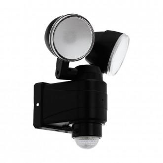 EGLO 98189   Casabas Eglo rameno stenové svietidlo pohybový senzor batérie/akumulátorové, otočné prvky 2x LED 800lm 6500K IP44 čierna, saténový
