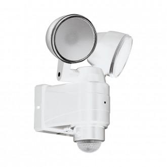 EGLO 98194   Casabas Eglo rameno stenové svietidlo pohybový senzor batérie/akumulátorové, otočné prvky 2x LED 800lm 6500K IP44 biela, saténový