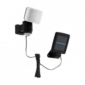EGLO 98195 | Casabas Eglo rameno stenové svietidlo pohybový senzor slnečné kolektorové / solárne, otočné prvky 1x LED 470lm 6500K IP44 čierna, biela