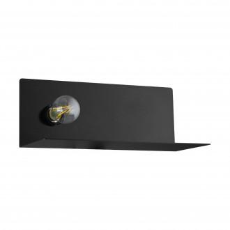EGLO 98264 | Ciglie Eglo stenové svietidlo prepínač USB prijímač, nabíjačka na telefón, nabíjačka na mobil 1x E27 čierna