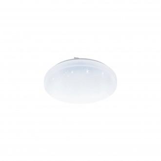 EGLO 98294 | EGLO-Access-Frania Eglo stropné Access svietidlo kruhový diaľkový ovládač regulovateľná intenzita svetla, nastaviteľná farebná teplota, časový spínač, nočné svetlo 1x LED 3300lm 2700 <-> 6500K IP44 biela, kryštálový efekt