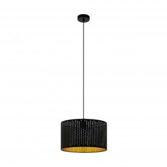 EGLO 98312 | Varillas Eglo visiace svietidlo kruhový 1x E27 čierna, zlatý
