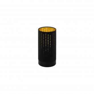 EGLO 98314 | Varillas Eglo stolové svietidlo kruhový 25,5cm prepínač na vedení 1x E27 čierna, zlatý